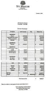 St. Regis Invoice for AIG Exec's Spree Celebrating Govt Bailout
