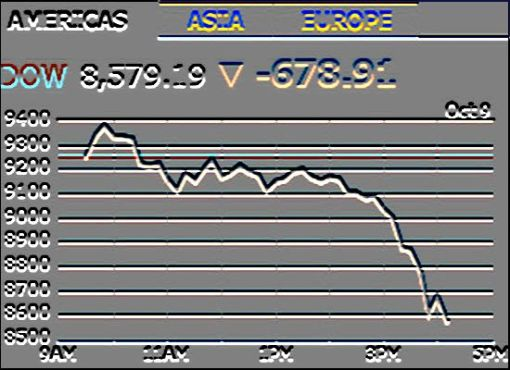 9 October 2008 Dow Jones Industrial Average