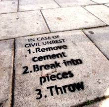 Sidewalk Graffitti in London